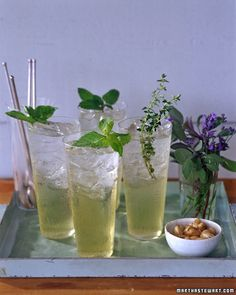 sodas, syrup, herbs, mint, ice cube trays, herbal soda, drink recipes, basil, drinks