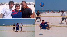 Raul, Maradona & Salgado playing Beach Volleyball