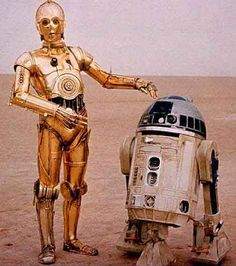 C3PO and R2D2, Droids, from Star Wars