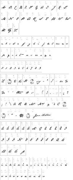 The Jane Austen font.