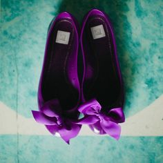 Purple bridal ballet flats | Spindle Photography