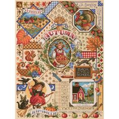 Janlynn Autumn Sampler Counted Cross Stitch Kit