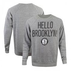 Sportiqe Nets Hello Brooklyn Sweatshirt [Grey]   Nets Store