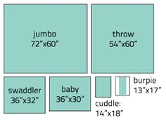 Afghan Size Chart - there is also a great Chevron pattern on this site