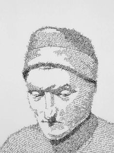 """Dante as """"The Inferno""""; John Sokol's portraits using authors' own words"""
