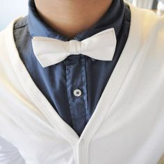 Every man needs a classic white bow tie.... #Colgate #OpticWhite #WeddingMonth http://bit.ly/1lc9DHM