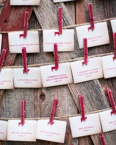 Escort Cards by Bluebird Productions and Express Yourself