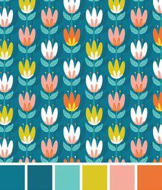 paleta de cores flores