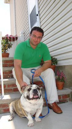 NY Assemblyman Joseph Borelli hanging out with his bulldog Winston.  He represents District 62, which encompasses the South Shore of Staten Island.