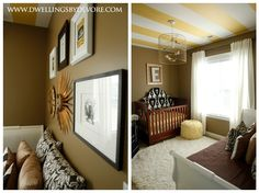 Elleanor's Nursery by dwellingsbydevore #stripedceiling