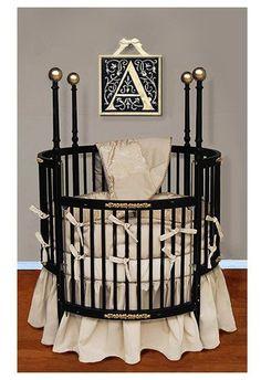 Baby Doll Bedding Sensation Round Crib Bedding Set - Gold - Best Price