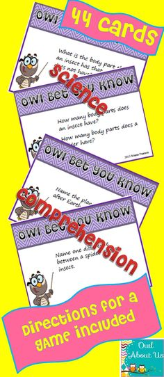 Great science concepts comprehension task cards!!!  Includes magnetism,   solids, liquids, and gases, landforms, Earth resources and, seasons...just to name a FEW!  $   Such a good review!