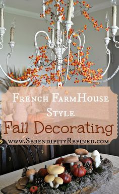 Serendipity Refined. Gorgeous fall decor ideas.