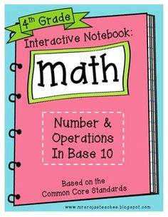 4TH GRADE INTERACTIVE MATH NOTEBOOK - GEOMETRY - TeachersPayTeachers.com