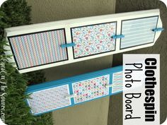 Mother's Day~ DIY Clothespin Photo Board
