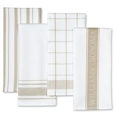 Williams-Sonoma Assorted Kitchen Towels, Set of 4  $19.95