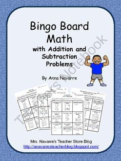 Bingo Board Math w/Addition and Subtraction from Mrs. Navarres Shop on TeachersNotebook.com -  (11 pages)  - Bingo Board Math w/Addition and Subtraction