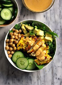 Satay Chicken Salad {Gluten Free Recipe} | www.fussfreecooking.com by fussfreecooking, via Flickr