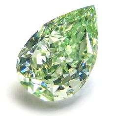 !            1.25ct. Pear Shape Fancy INTENSE y. Green Diamond         From Ishay Ben-David Corp.              via Stonefinder