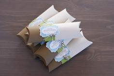 choc/cream pillow boxes