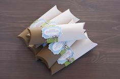 wrap, card inspir, pillow box ideas, stampin, favor, pillow boxes, pillowbox, buena idea, pillows