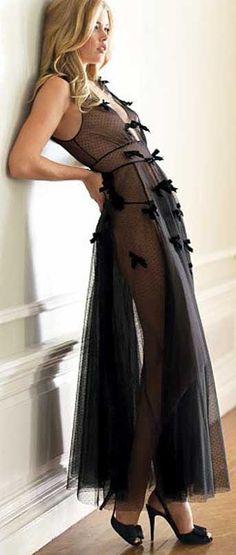 Victoria's Secret Velvet Bow Gown