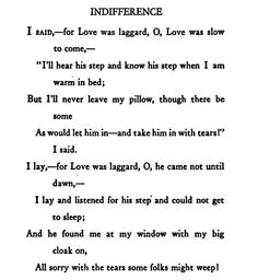 "A Textual Analysis of Millay's ""Love Is Not All (Sonnet XXX)"""