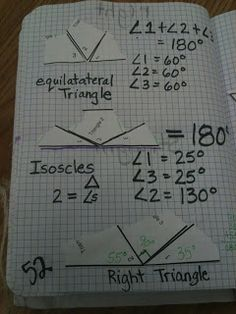 Hodges Herald: Math Journals- Geometry Unit: this is so fun! Really big impact on students if the middle angle is placed last.