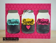 Fine Check Background, Mason Jar Labels Die-namics, Mini Chicken Wire Background, Mason Jar Die-namics - Teri Anderson #mftstamps