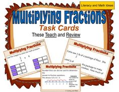 These task cards teach students how to multiply fractions and teach students how to deeply understand this concept too.  These task cards get to the heart of math assessments by teaching students how to deeply understand what it means to multiply fractions. Math problems are presented as expressions and word problems to help students understand different contexts in which multiplying fractions apply.  This is a great resource for test prep and review. $