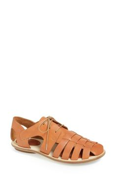 Pairing this cute pair of lace-up caged sandals with chinos!