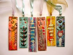 recycling cereal box- bookmarks