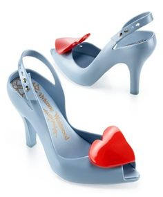 blue vivienne westwood shoes (and they're bubblegum scented)