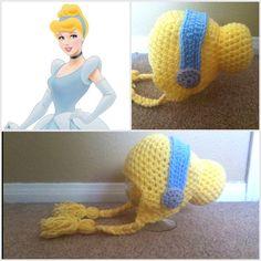 Crochet Cinderella Beanie Hat - Etsy $15.00