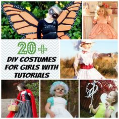DIY Homemade Costumes for Girls - with tutorials and free patterns!