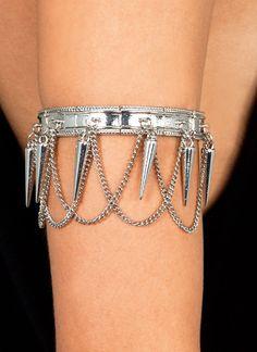chain arm band.