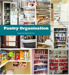 Tons of great organizing tips and links to some really fabulous websites! tips and tricks for pantry organization - www.momsbyheart.net