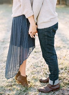 Fall engagement outfit ideas | photos by Ryan Bernal | 100 Layer Cake