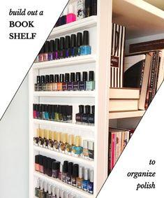A Balanced Bookshelf - Organize Nail Polish