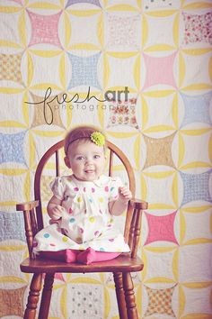 I love Fresh Art Photography's use of the quilt as a background! I might start looking for some of my own.