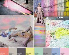 colour statement, pastel colours, powder pastel, sherbet lemon, cosmet pink