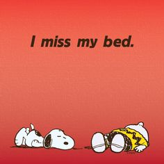 I miss my bed.