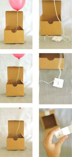 mini-balloon save the dates! CUTE!