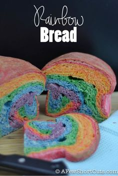So much fun for St Patricks day or any day that needs a rainbow! Great Rainbow Bread #Recipe