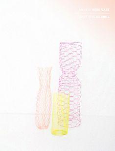chicken wire vases