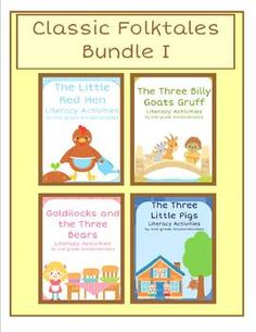 Get 4 for the price of 3!  Each story has anchor charts, 9 literacy activities, and a reader's theater!  $