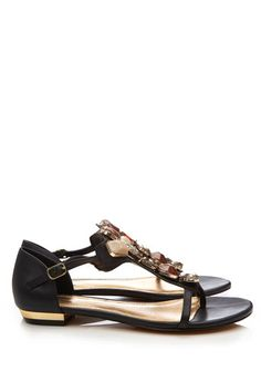 Black Large Stone Sandal - how fashionably funky are these sandals?!