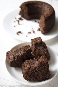 vegan banana chocolate cake