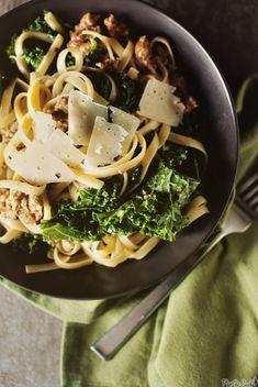 Fettuccine + Sausage & Kale