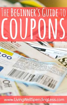 The Beginners Guide to Coupons. This is seriously the best free online step-by-step guide to learning how to coupon. It breaks the whole process down into easy-to-follow baby steps that anyone can learn!